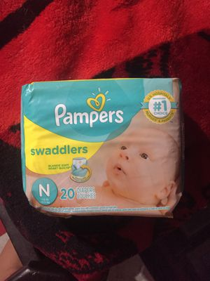 Pampers swaddler newborn 20count for Sale in Vernon, CA
