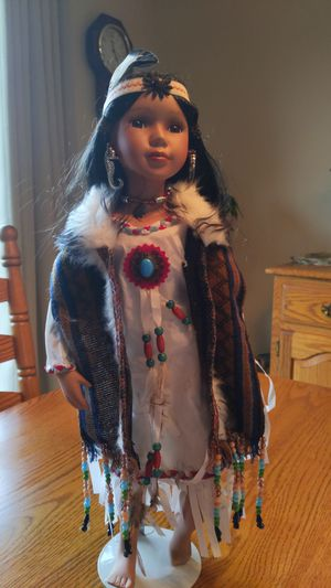 Heritage House Native American Porcelain Doll for Sale in Monroeville, PA