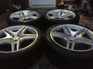 mercedes benz AMG staggered rims size 20 5x112 wheels oem for Sale in Manassas, VA