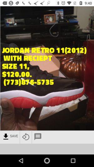 Jordan Retro 11 with reciept Size 11 (2012) for Sale in Chicago, IL