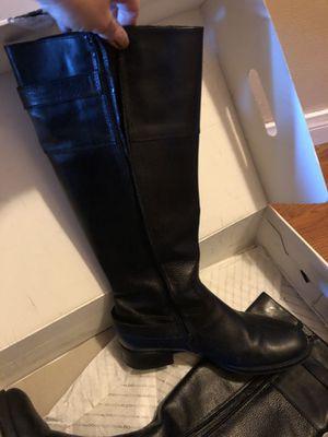 Black Leather Boots for Sale in San Bernardino, CA
