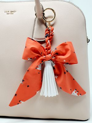Scarf bow and tassel bag charm for Sale in Baldwin Park, CA
