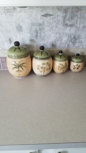 Ceramic kitchen canisters for Sale in Summerfield, FL