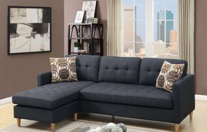 """Black sectional sofa mid century modern 86""""x59"""" for Sale in Anaheim, CA"""