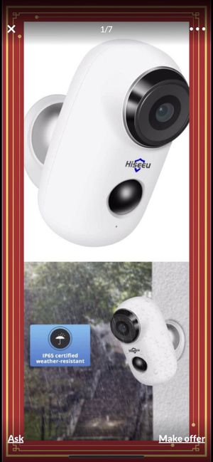 Home Security Camera,Wireless WiFi Camera for Sale in Alhambra, CA