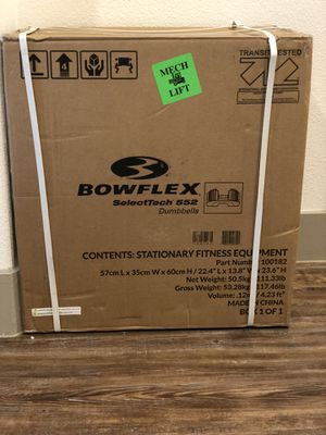 Bowflex selecttech 552 dumbbells brand new for Sale in Austin, TX