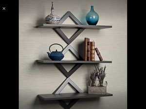 Danya B Diamonds 3 Level Wall Shelf, Modern Wall Shelf Unit for Sale in Riverside, CA
