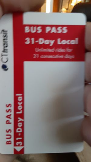 31day buss pass for Sale in Waterbury, CT