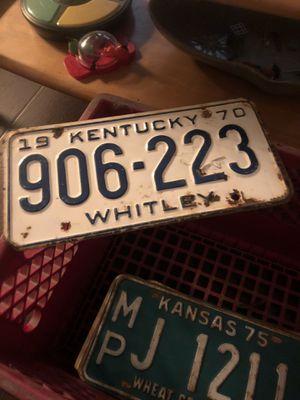 1970 Kentucky Plate for Sale in Bakersfield, CA