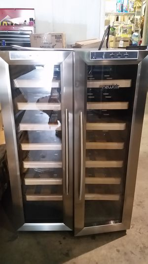 Brand new wine rack refrigerator with wood racks very nice for Sale in NC, US