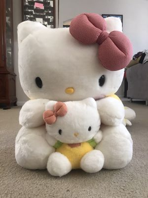 GIANT Hello Kitty Plush, with little Mimi. for Sale in Jacksonville, FL