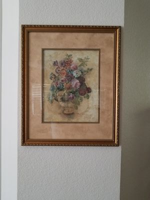 Pretty Floral Wall Hanging Picture for Sale in Hesperia, CA