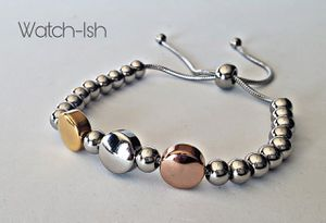 (NEW) Womans 3 tone stainless adjustable bracelet for Sale in Revere, MA