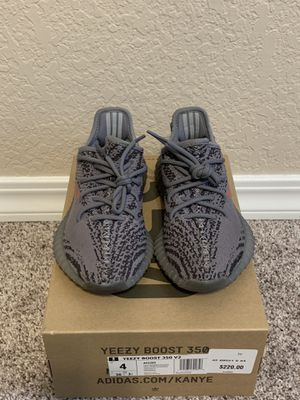 Adidas Yeezy Boost 350 V2 Beluga 2.0 US 4. Off-White supreme bape authentic for Sale in Brier, WA