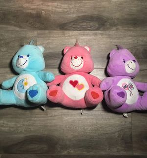 Care bears plush stuffed animals lot of 3 share love a lot dream teddy bear for Sale in Moreno Valley, CA