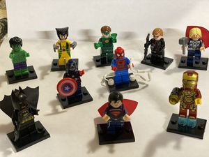 10 mini figures of Marvel's hero's for Sale in South Gate, CA