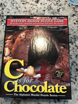 C is for Chocolate Mystery Jigsaw Puzzle by TDC Games for Sale in Bellevue, WA
