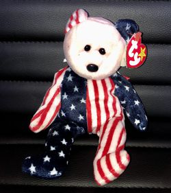 TY Beanie Baby Spangle Bear With Tag Retired DOB: June 14th, 1999 New for Sale in San Antonio,  TX