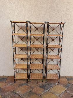 Wicker Rattan Small Shelves Shelving for Sale in Fort Lauderdale,  FL