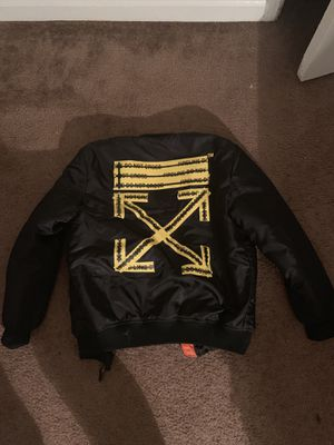 Off white bomber jacket (M) for Sale in Washington, DC