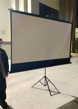 "NEW IN BOX 100"" inch 87x48 inches Projector Screen Size Outdoor Portable Adjustable Stand 16:9 Indoor Home Movie Theater Retractable for Sale in West Covina,  CA"