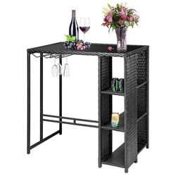 Black Wicker Bar Table for Sale in Pflugerville,  TX