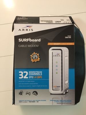Cable modem arris surfboard new for Sale in Torrington, CT