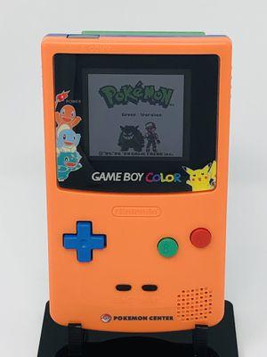 RARE Nintendo Game Boy Color Pokemon Center Edition with Backlight w. Free Pokemon Green for Sale in Wakefield, RI