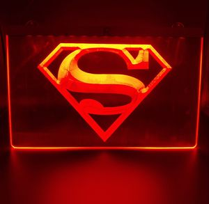 "💥NEW 3D BATMAN/SUPERMAN(+more) 8×12"" LED SIGN/PLAQUE💥MAN CAVE. GARAGE. WALL DECOR. NIGHT LIGHT💥 for Sale in Ontario, CA"
