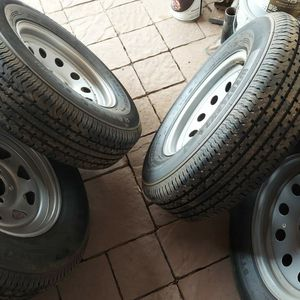 I Have 4 Tires And Wheels For Trailer Or Camper Travel for Sale in Mesa, AZ