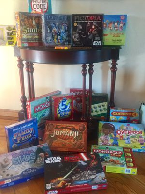 Massive board game and kids book clearance. Many BRAND NEW for Sale in Saratoga, CA