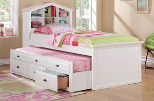 NEW WHITE CAPTAIN BED AND MATTRESS for Sale in Downey, CA