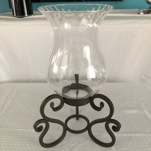 """GORGEOUS WROUGHT IRON METAL HURRICANE CANDLE HOLDER ~ 18 """" H 🌸 RUSTIC HOME DECOR TABLE CENTERPIECE for Sale in Tempe, AZ"""
