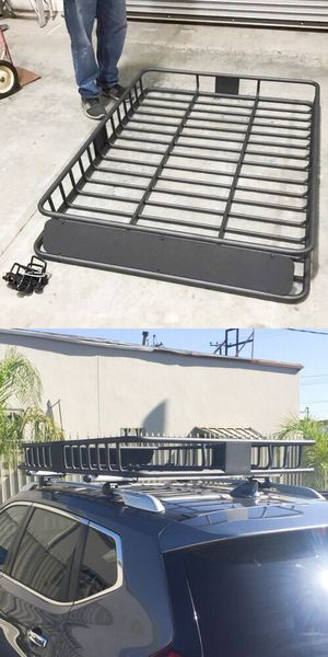 New in box XXL large 64x45x7 inches roof basket travel cargo carrier storage rack for suv car truck for Sale in Whittier, CA
