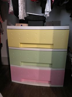 Colorful Plastic Drawers for Sale in Bellevue,  WA