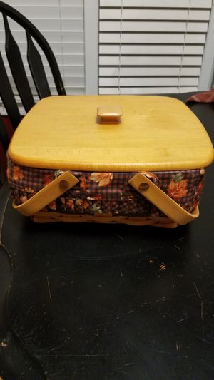 1997 Longaberger Basket with Lid for Sale in Avon, IN
