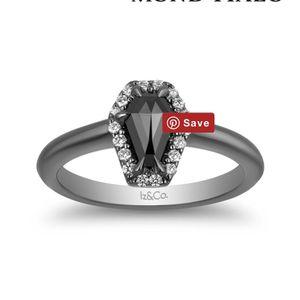 Brand New Iz&Co Black Diamond Coffin Ring Size 6.5 for Sale in Lake Elsinore, CA