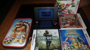 Nintendo 3DS with call of duty 4 Pokemon super mystery dragon 3DS game donkey Kong country returns 3D Mario kart 7 and Bowser case for Sale in Wheat Ridge, CO