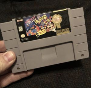 Tetris & Dr Mario Super Nintendo SuperNES Game! Authentic/Tested/Works! Great Christmas Santa Present! for Sale in Henderson, NV