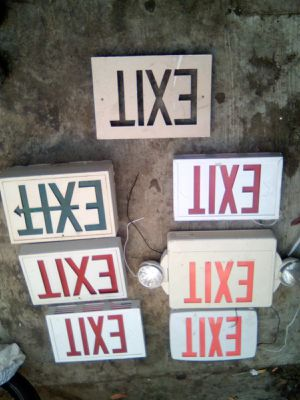 Exit signs 7 of them all but one light up for Sale in Modesto, CA