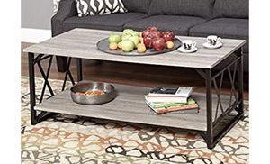 Coffee Table, Grey and black, wood and metal material for Sale in Rockville, MD