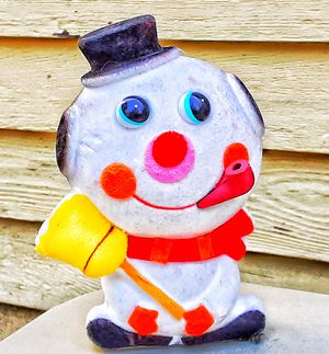 1960s mid century modern fuzzy frosty the snowman figurine bank MADE IN JAPAN for Sale in Saginaw, MI