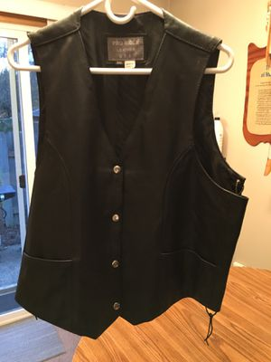 Men's leather motorcycle vest for Sale in Portland, OR