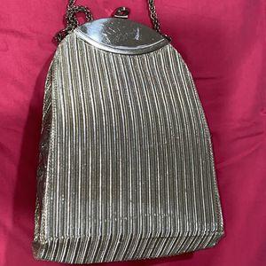 Mini Women Clutch In Silver Color & Leather Inside for Sale in Bloomfield Hills, MI