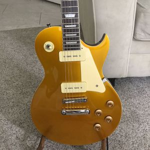 P90 pickups Les Paul Copy gold top Electric Guitar Set Neck for Sale in Waddell, AZ