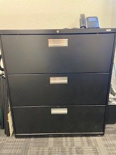 Wide Black Filing Cabinet for Sale in Santee, CA