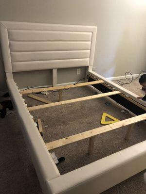 Queen platform bed frame- pending pick up 2-29 for Sale in Winston-Salem, NC