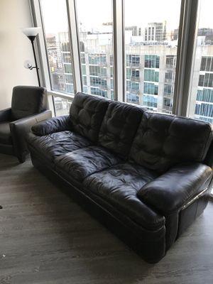 Dark brown, leather sofa for Sale in Nashville, TN