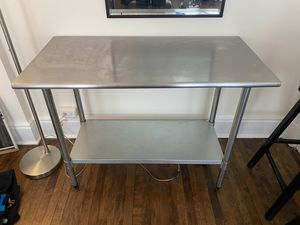 Stainless Steel Kitchen Island for Sale in New York, NY