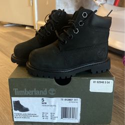Timberland Black Boots Toddlers Size 5 for Sale in Philadelphia,  PA